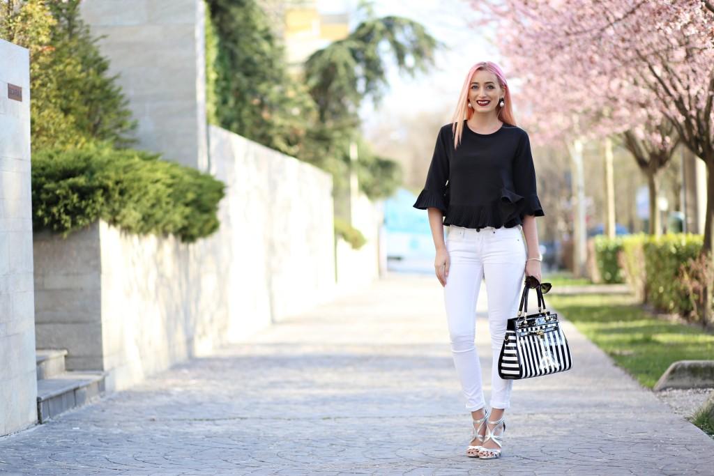 madalina misu, madalina misu fashion blog, blog de moda, ce purtam la birou, tinuta de job, look alb-negru, blog, blogger, ootd, outfit of the day, romwe, amiclubwear, black and white outfit