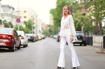 madalina misu, madalina misu fashion blog, bog de moda, top bloguri, top bloggeri, cum purtam tinute all white, bluza cu broderie, how to wear all white outfits, ootd, outfit of the day, boho chic style, stil boho chic, pantaloni evazati, cum purtam pantalonii evazati