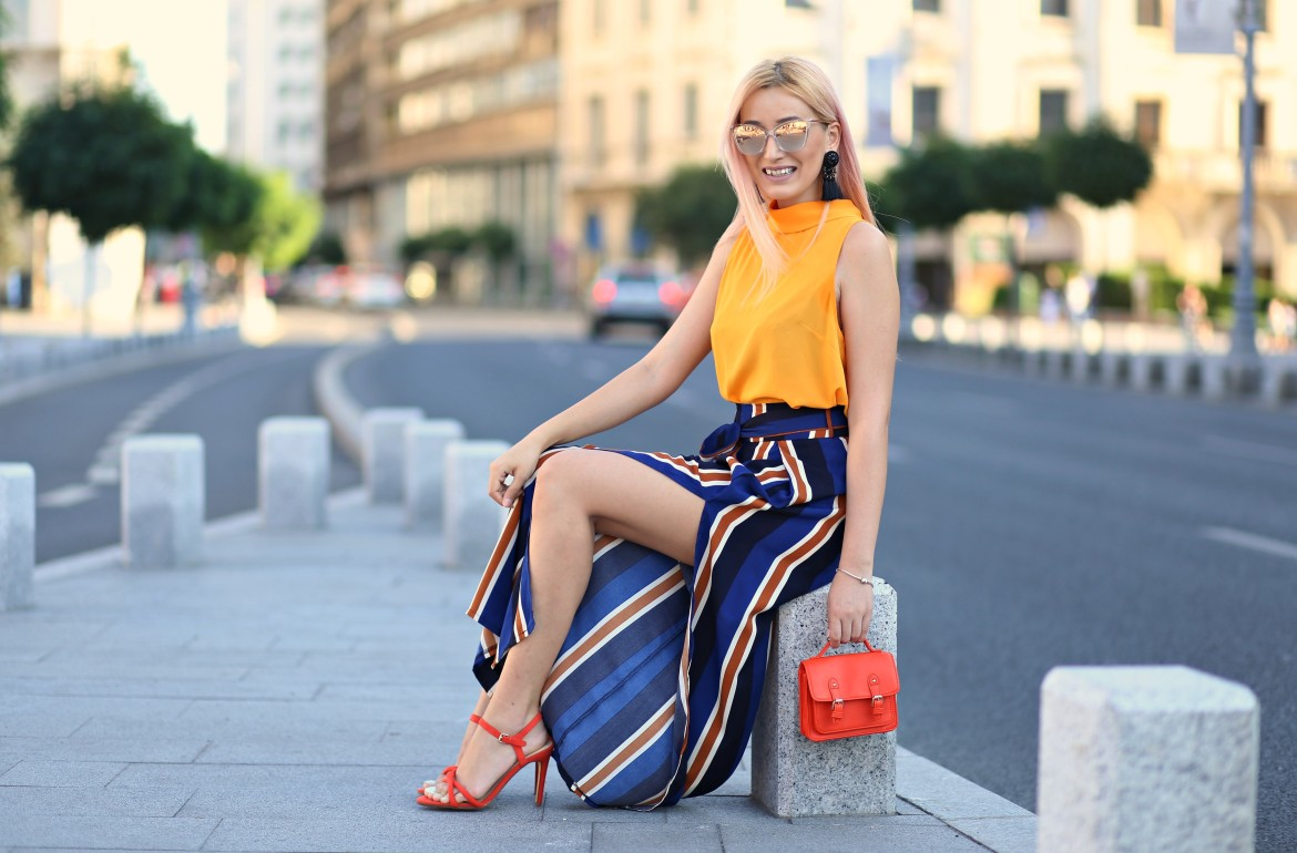 madalina misu, madalina misu fashion blog, blog de moda, orange is the new black, orange, pantaloni culottes, palazzo, mango, asos, blog, blogger, fashion blog, fashion blogger, blogger de moda, cum purtam culottes, ce purtam vara, ootd, outfit of the day