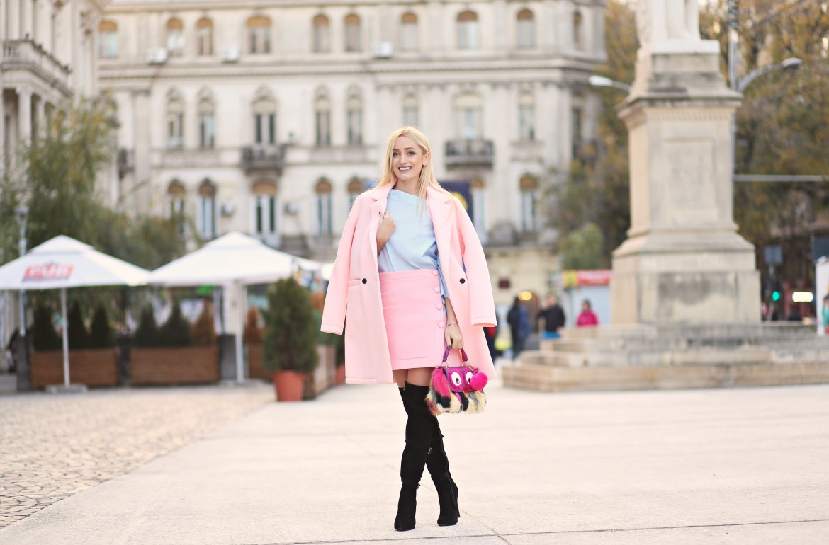 madalina misu, madalina misu fashion blog, blog de moda, top bloguri moda, top fashion bloggers, ootd, outfit of the day, fall outfit, over the knee boots, how to wear pink, how to wear over the knee boots, staying summer, romwe, aldo, amiclubwear, only