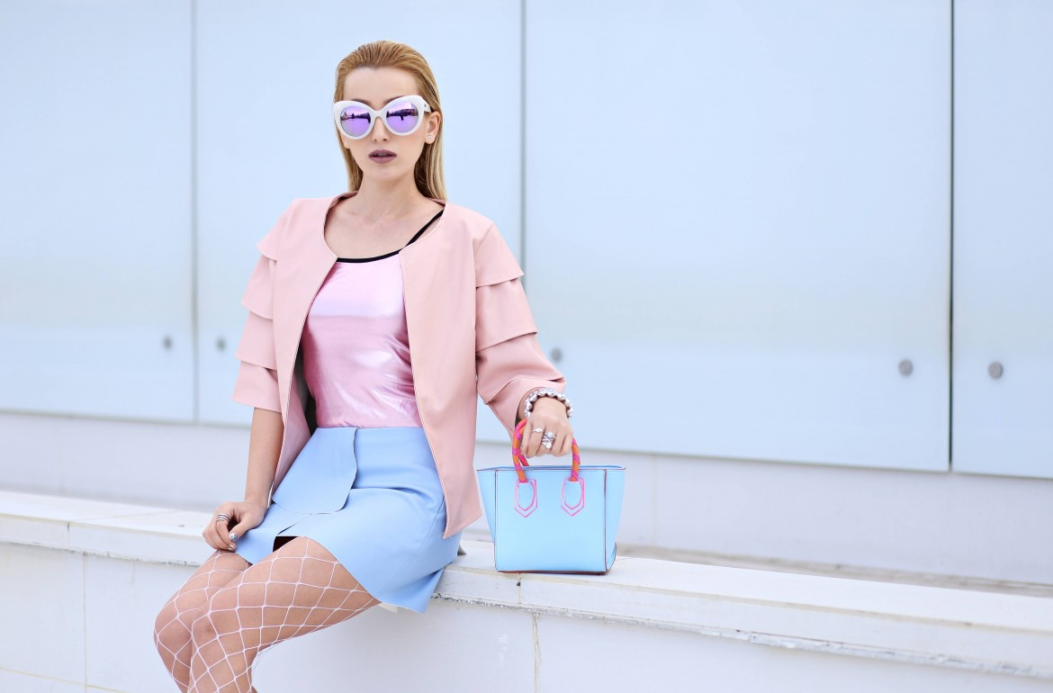 madalina misu, madalina misu fashion blog, blog de moda, cum purtam pasteluri, jacheta cu volane, ce purtam in 2017, blog de moda, fashion blog, top bloguri moda, top fashion bloggers, top romanian bloggers, asos, zara, jadu, daisy street, wet look