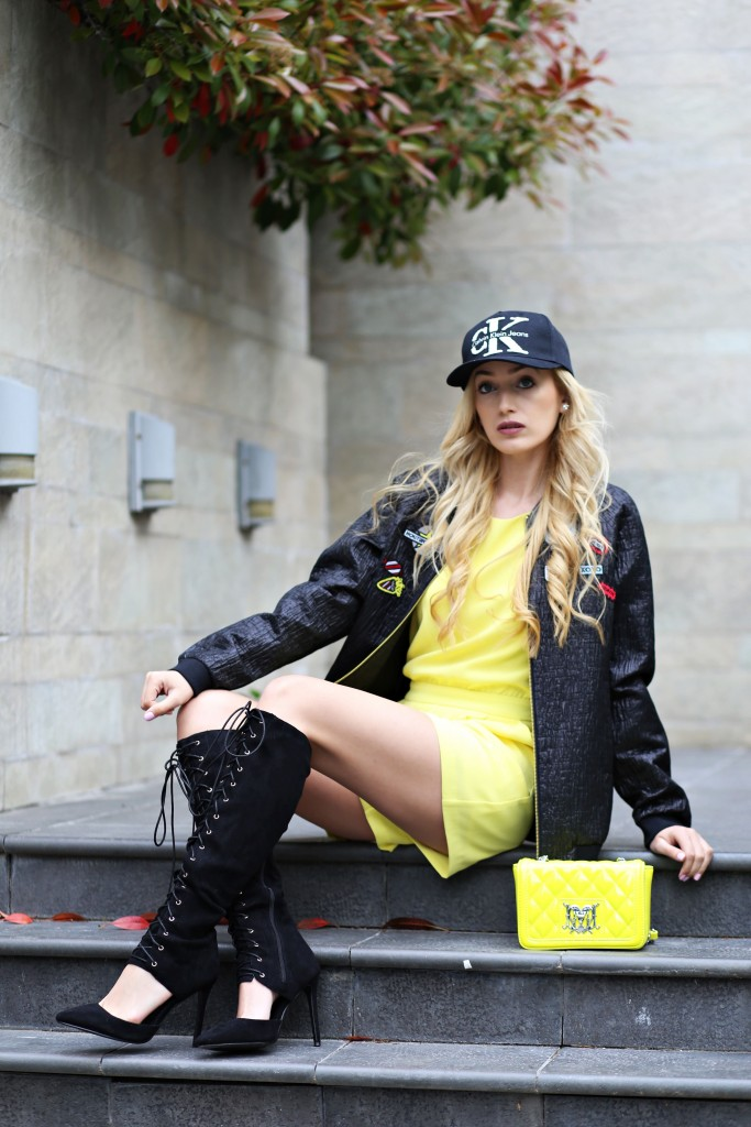 madalina misu, madalina misu fashion blog, blog de moda, top bloguri romanesti, top fashion bloggers, bonprix, jacheta bomber, geaca bomber bonprix, cum purtam jacheta bomber, marcell von berlin bonprix, top fashion bloggers, sapca si tocuri, moschino, geanta moschino, salopeta mango, moschino bag, ootd, outfit of the day